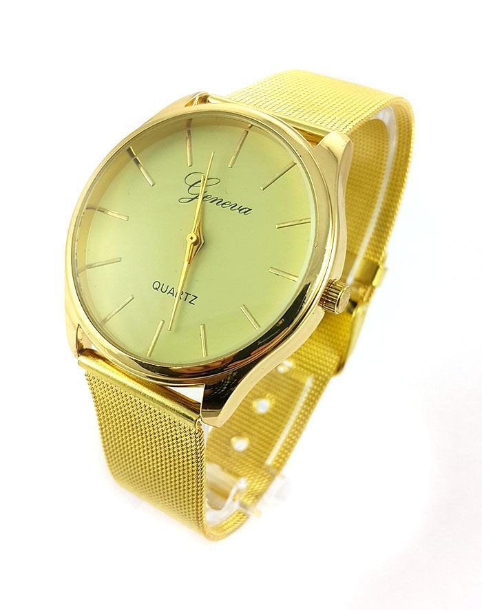 6c66414d Женские наручные часы Geneva на металлическом золотом ремешке купить в СПБ